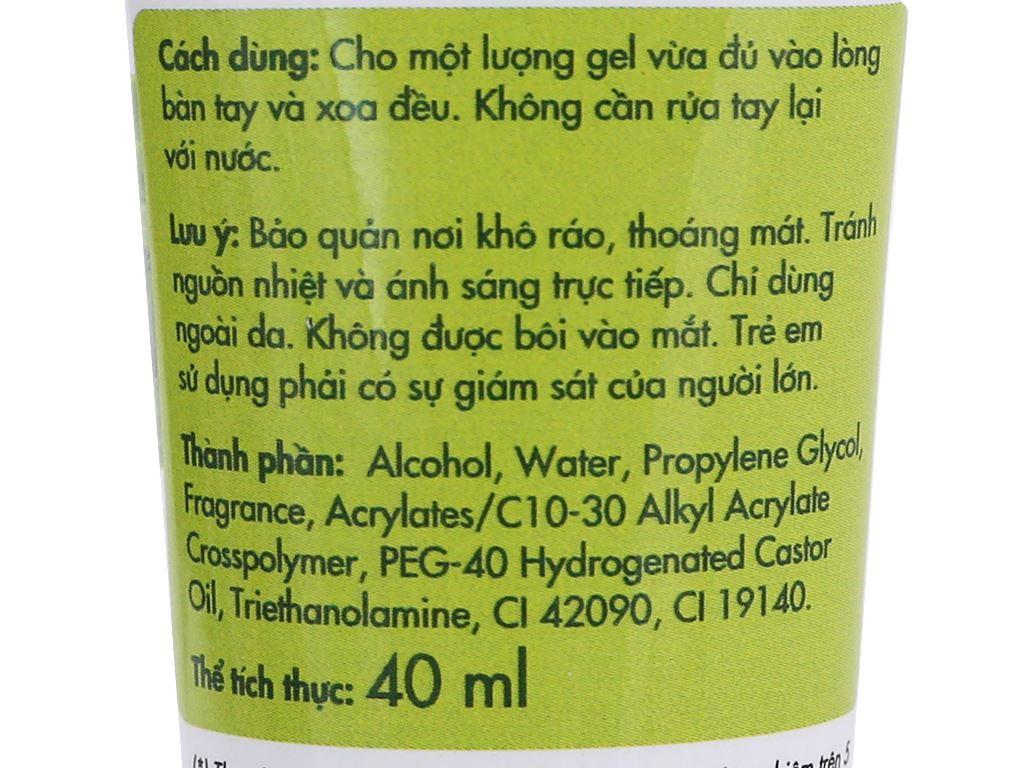 Gel rửa tay khô Kleen hương trà xanh chai 40ml 3