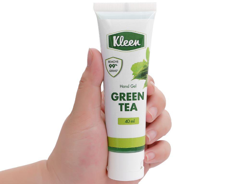 Gel rửa tay khô Kleen hương trà xanh chai 40ml 4