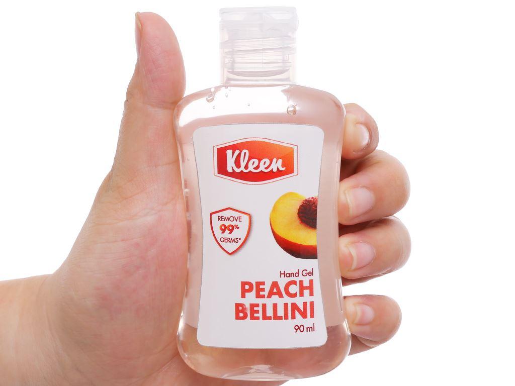 Gel rửa tay khô Kleen hương đào chai 90ml 4