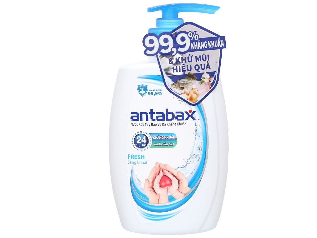 Nước rửa tay kháng khuẩn Antabax sảng khoái chai 250ml 1