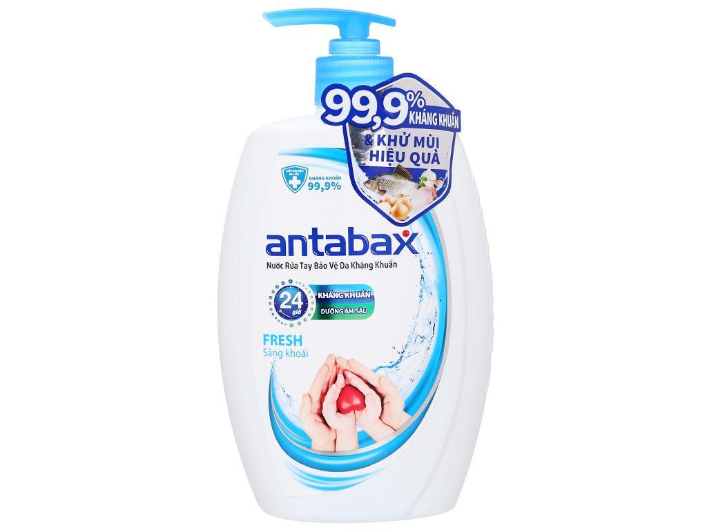 Nước rửa tay kháng khuẩn Antabax sảng khoái chai 500ml 1