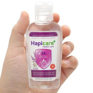 Gel rửa tay khô kháng khuẩn Hapicare hương oải hương chai 60ml
