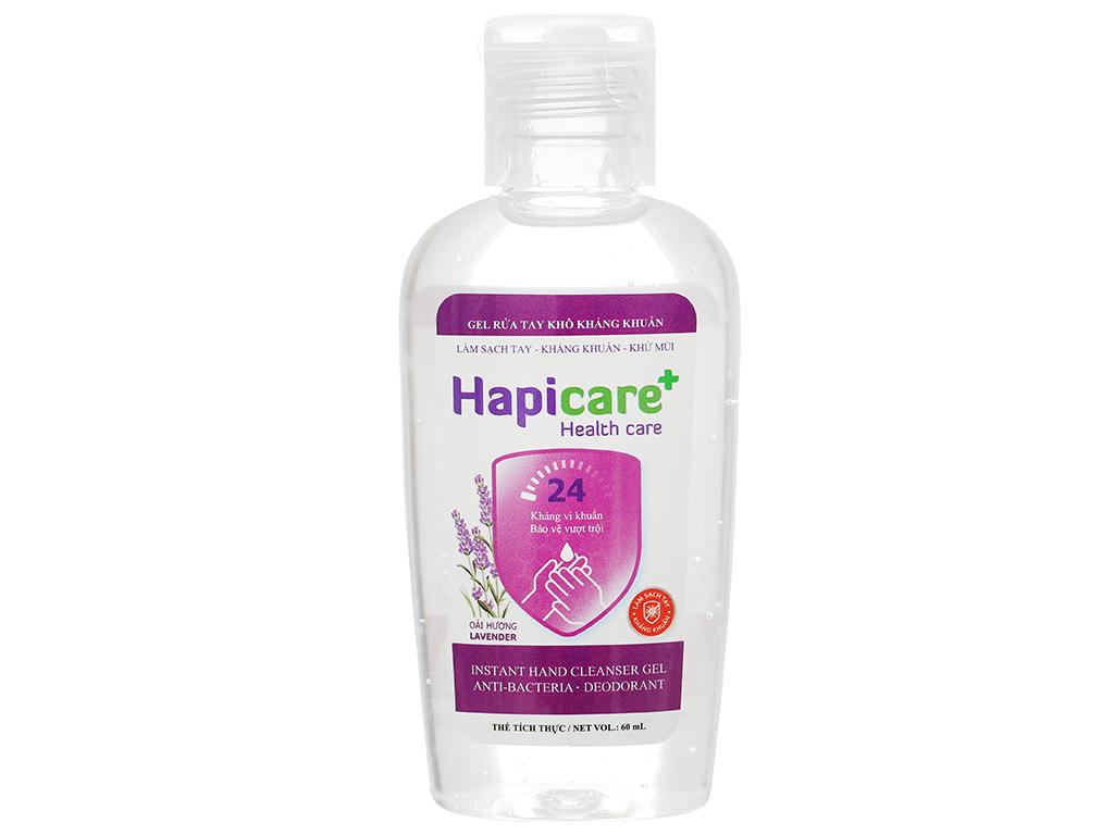 Gel rửa tay khô kháng khuẩn Hapicare hương oải hương chai 60ml 1