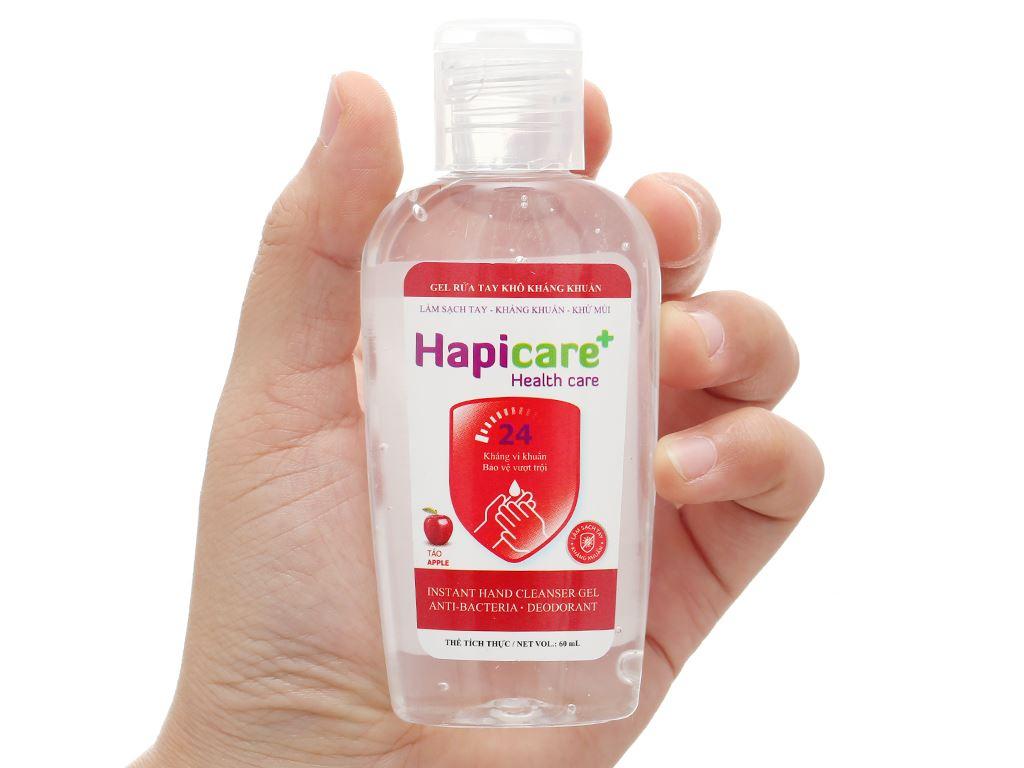 Gel rửa tay khô kháng khuẩn Hapicare hương táo chai 60ml 4