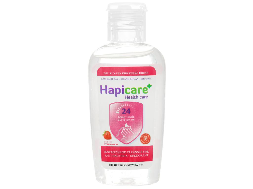 Gel rửa tay khô kháng khuẩn Hapicare hương dâu chai 60ml 1