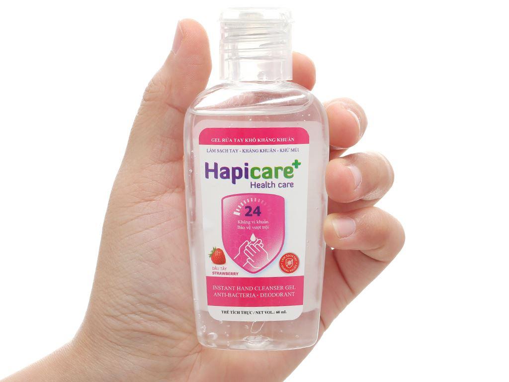 Gel rửa tay khô kháng khuẩn Hapicare hương dâu chai 60ml 4