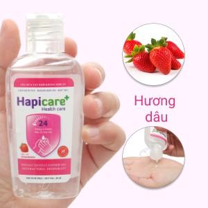 Gel rửa tay khô kháng khuẩn Hapicare hương dâu chai 60ml