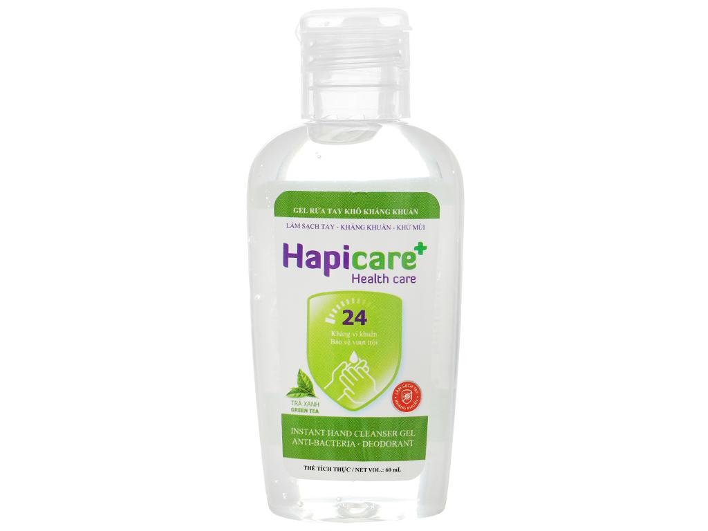 Gel rửa tay khô kháng khuẩn Hapicare hương trà xanh chai 60ml 1
