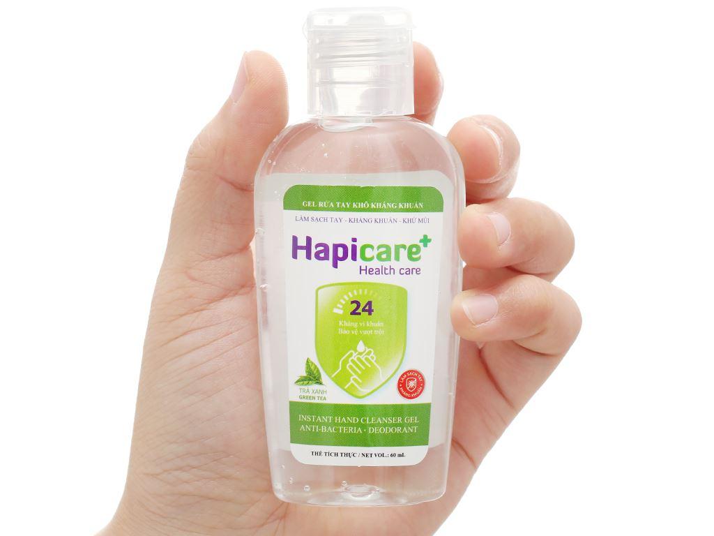 Gel rửa tay khô kháng khuẩn Hapicare hương trà xanh chai 60ml 4