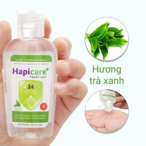 Gel rửa tay khô kháng khuẩn Hapicare hương trà xanh chai 60ml