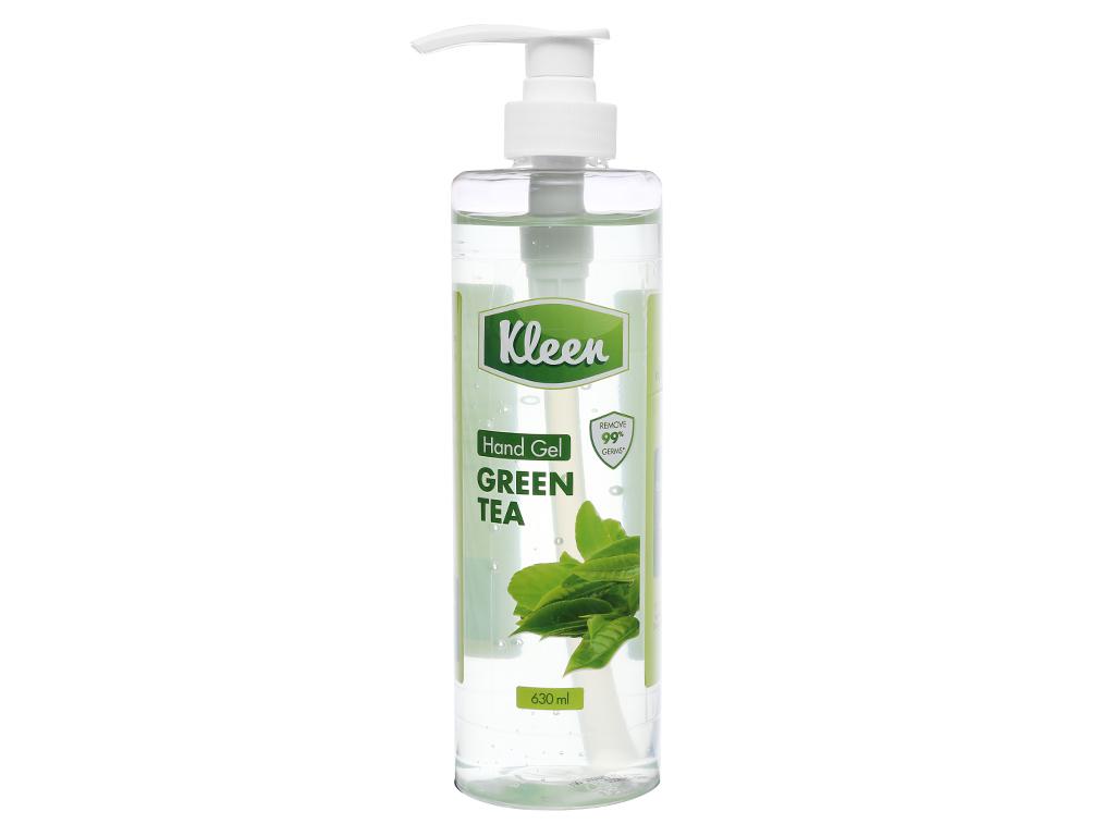 Gel rửa tay khô Kleen hương trà xanh chai 630ml 1