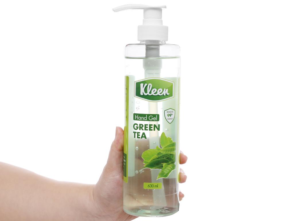 Gel rửa tay khô Kleen hương trà xanh chai 630ml 5