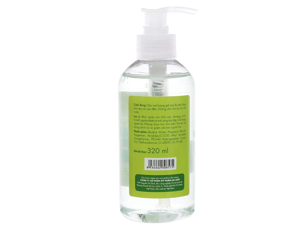 Gel rửa tay khô Kleen hương trà xanh chai 320ml 2