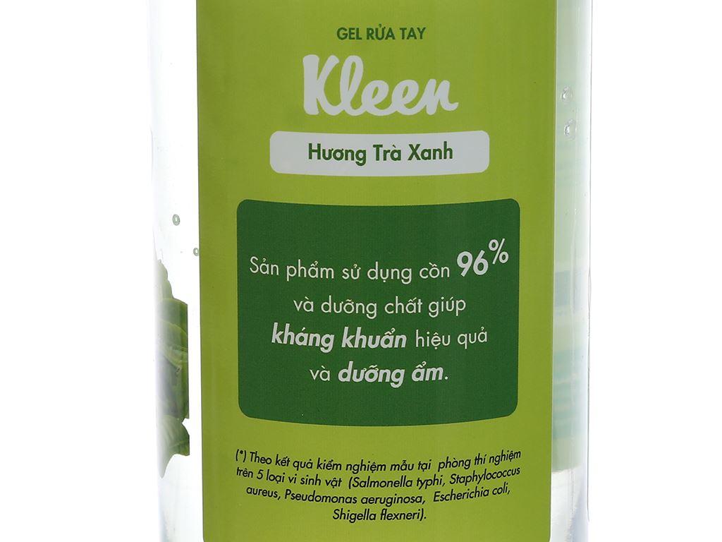 Gel rửa tay khô Kleen hương trà xanh chai 320ml 4