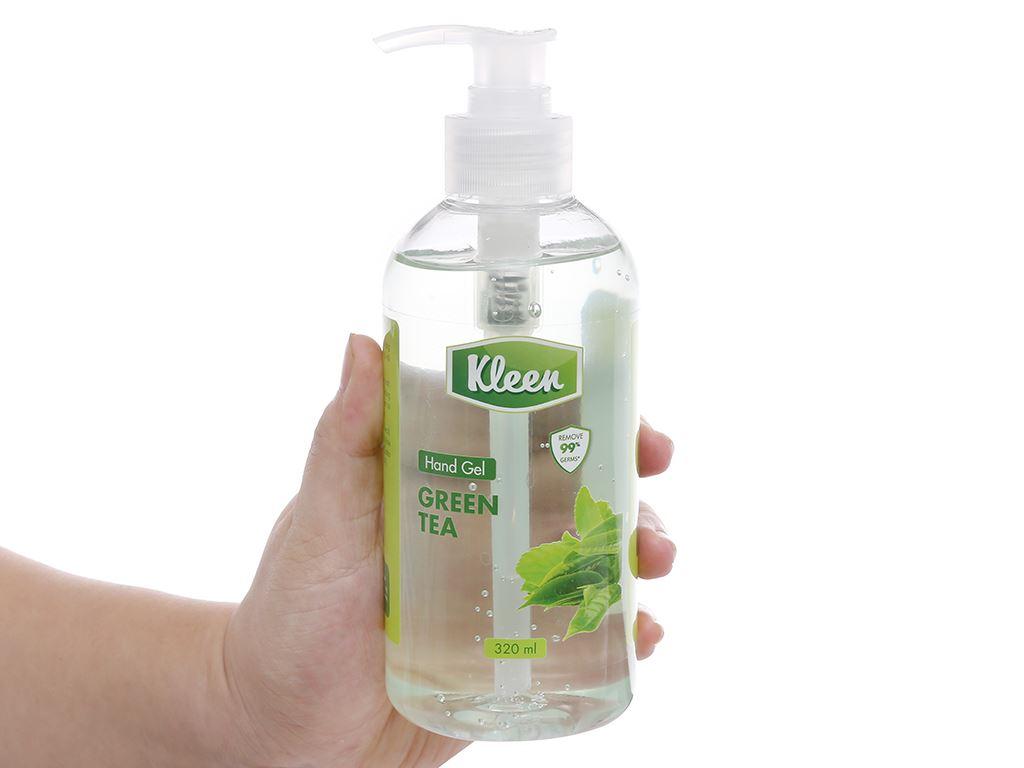 Gel rửa tay khô Kleen hương trà xanh chai 320ml 5