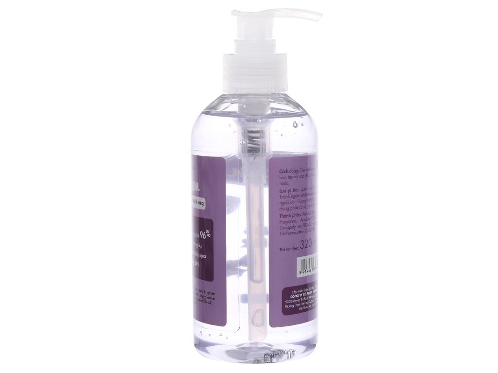 Gel rửa tay khô Kleen hương oải hương chai 320ml 2
