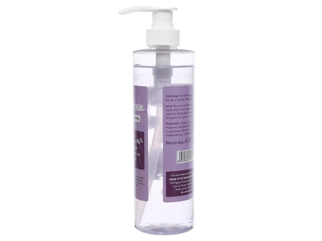Gel rửa tay khô Kleen hương oải hương chai 630ml 2