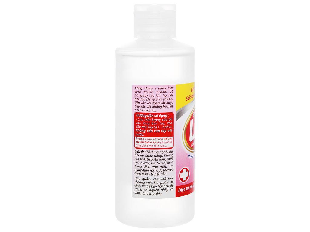 Gel rửa tay khô Lily sát khuẩn chai 120ml 3