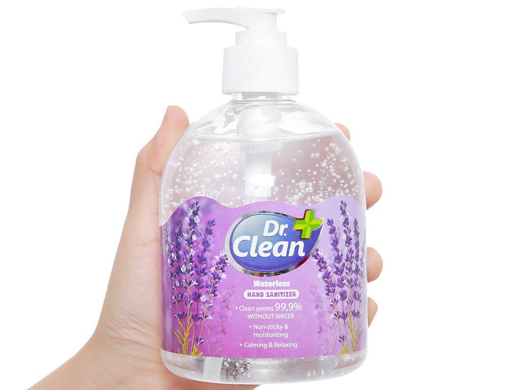 Gel rửa tay khô Dr. Clean hương lavender chai 500ml 4