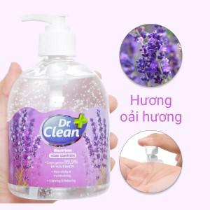 Gel rửa tay khô Dr. Clean hương lavender chai 500ml