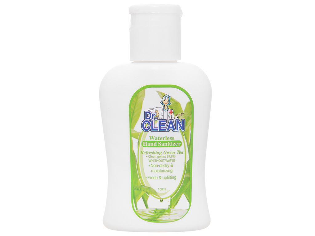 Gel rửa tay khô Dr. Clean hương trà xanh chai 100ml 1