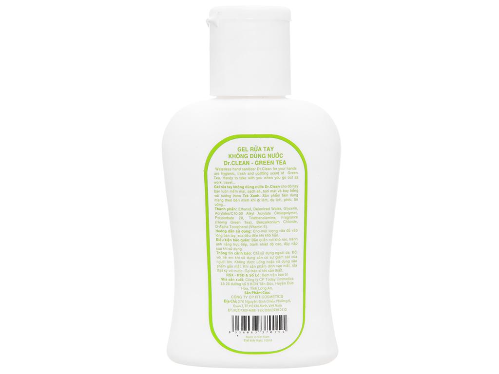 Gel rửa tay khô Dr. Clean hương trà xanh chai 100ml 2