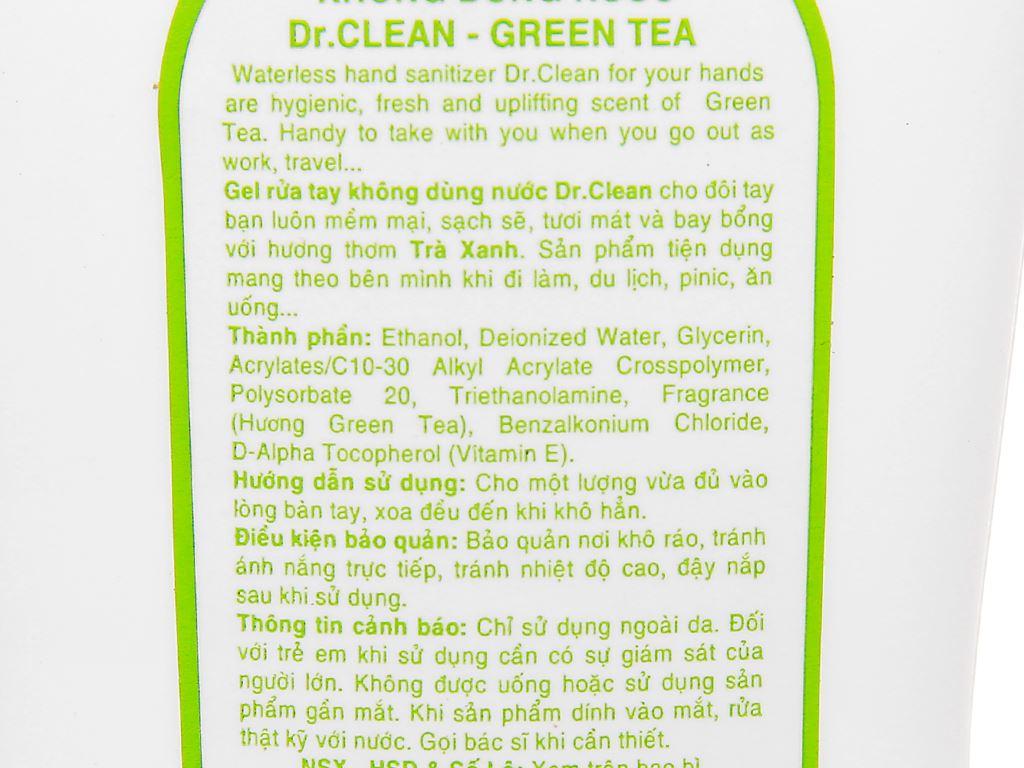 Gel rửa tay khô Dr. Clean hương trà xanh chai 100ml 3