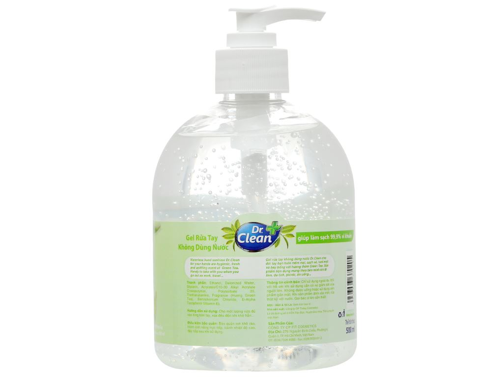 Gel rửa tay khô Dr. Clean hương trà xanh chai 500ml 2