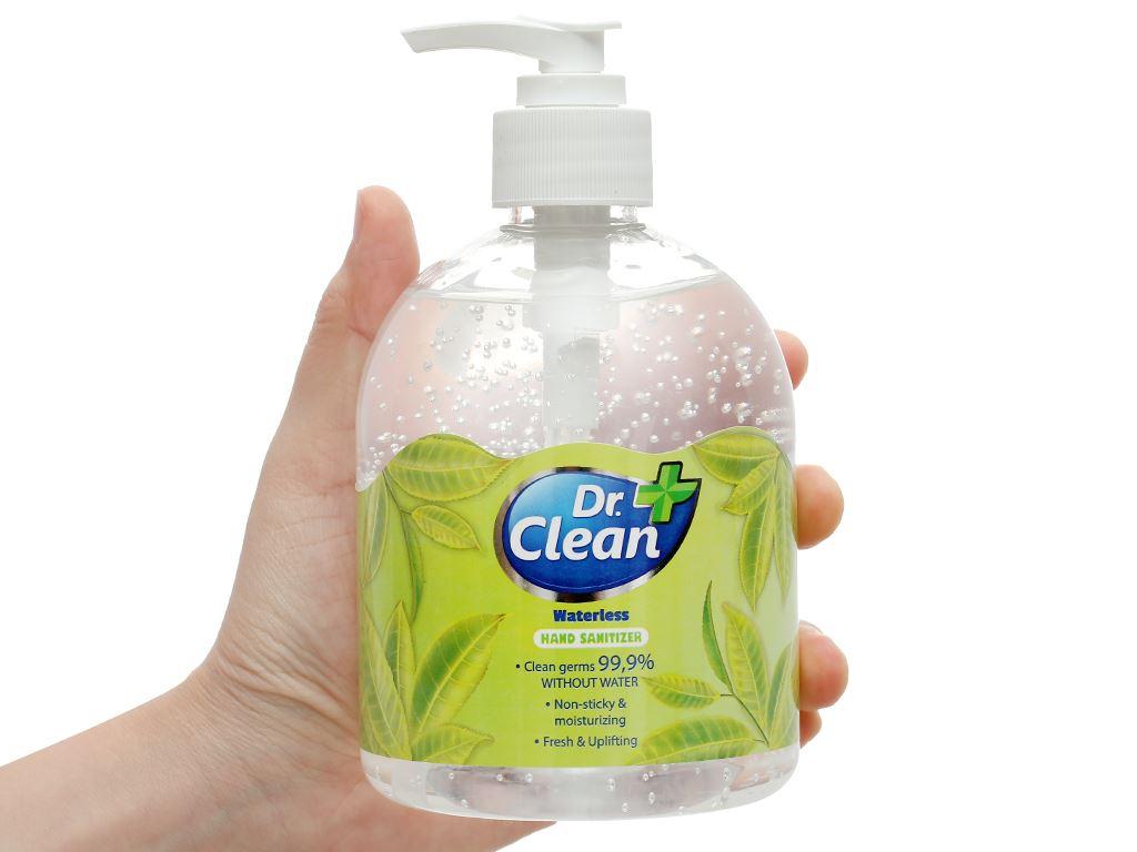 Gel rửa tay khô Dr. Clean hương trà xanh chai 500ml 4