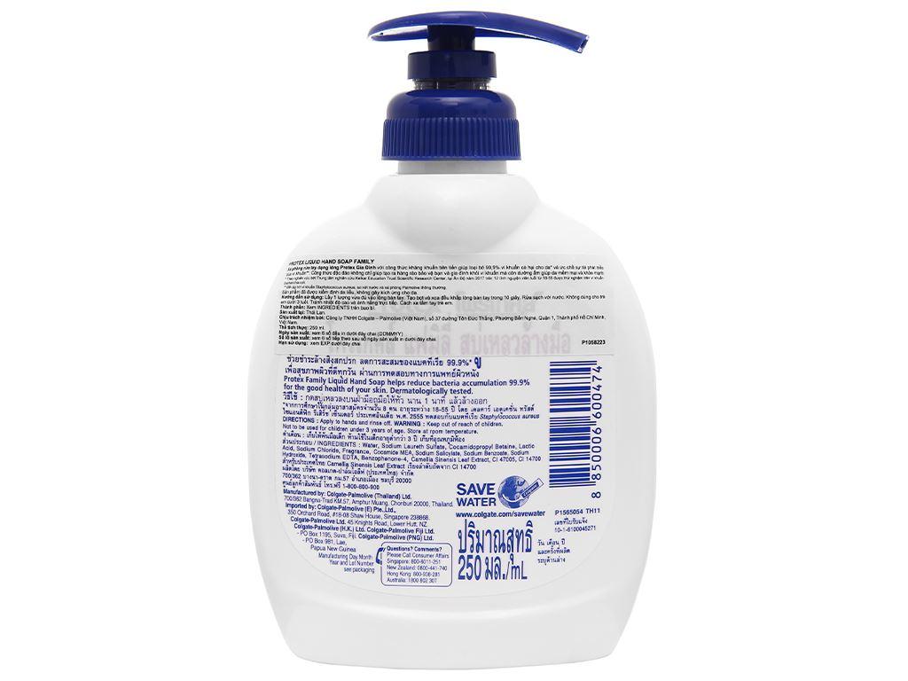 Nước rửa tay Protex Propolis gia đình 250ml 2