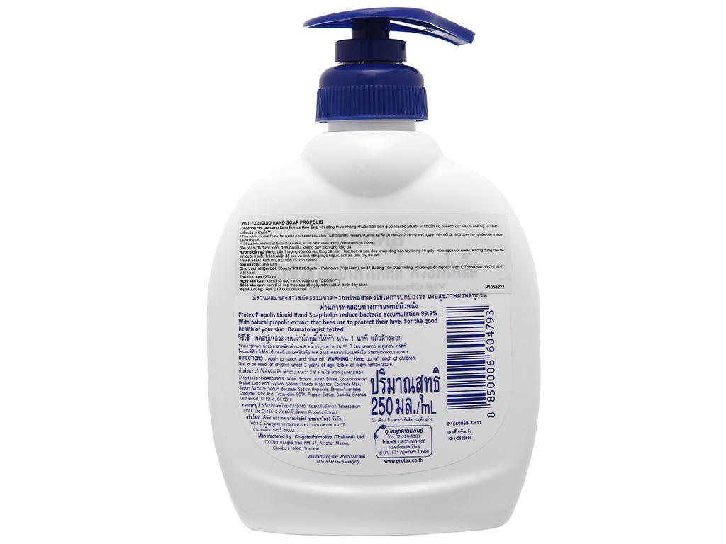 Nước rửa tay Protex Propolis chiết xuất keo ong 250ml 2