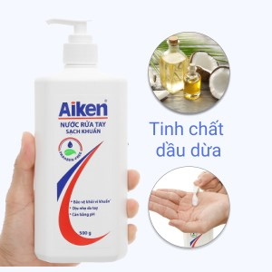 Nước rửa tay Aiken sạch khuẩn chai 500g
