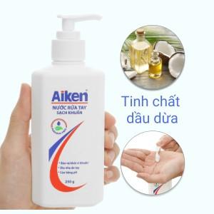 Nước rửa tay Aiken sạch khuẩn chai 250g