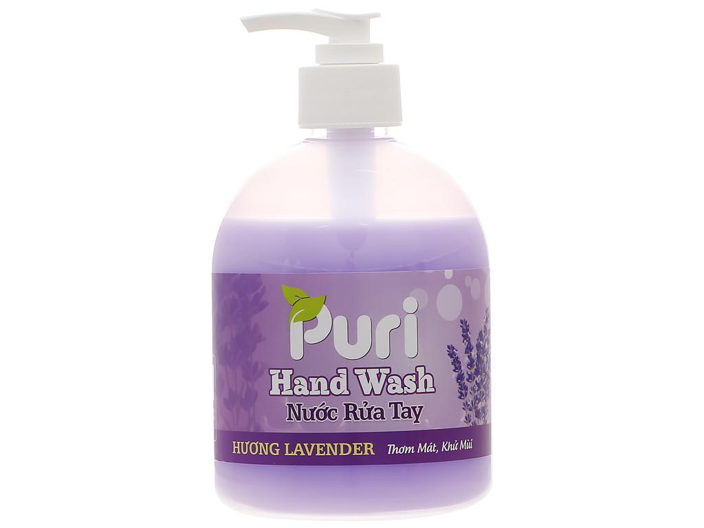 Nước rửa tay Puri hương lavender chai 500ml 1