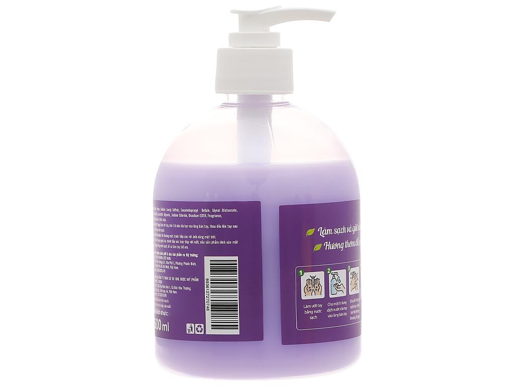 Nước rửa tay Puri hương lavender chai 500ml 2