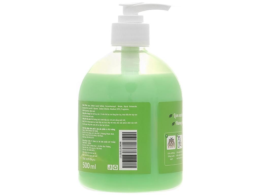 Nước rửa tay Puri hương táo chai 500ml 2