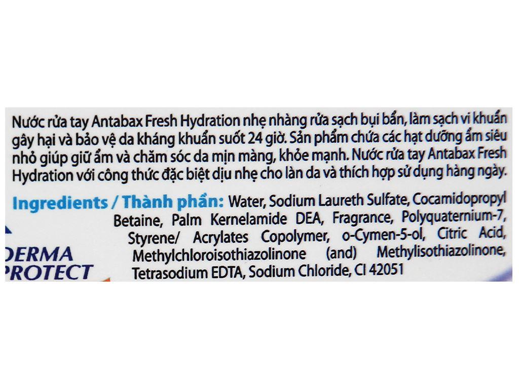 Nước rửa tay Antabax sảng khoái 500ml 3
