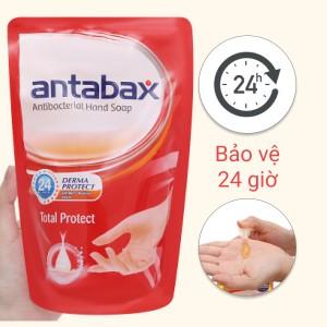 Nước rửa tay kháng khuẩn Antabax bảo vệ da túi 450ml