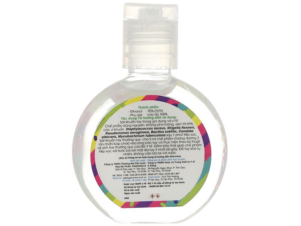 Dung dịch rửa tay nhanh Cleanwel New (vỏ sillicon cartoon) chai tròn 30ml 3
