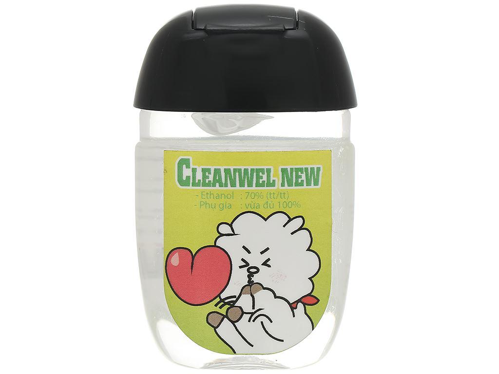 Dung dịch rửa tay nhanh Cleanwel New BTS chai bầu 30ml 1