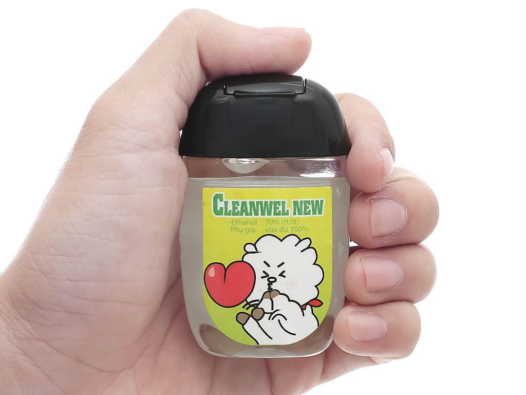 Dung dịch rửa tay nhanh Cleanwel New BTS chai bầu 30ml 5