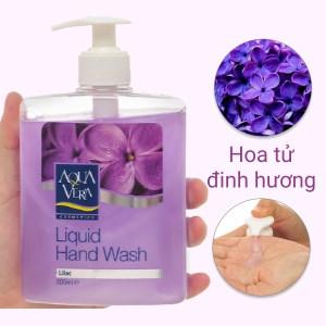 Nước rửa tay Aqua Vera dưỡng da hoa tử đinh hương 500ml