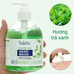 Nước rửa tay Vedette hương trà xanh chai 500ml