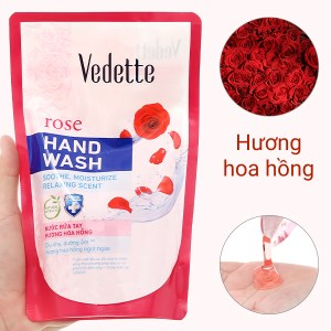 Nước rửa tay Vedette hương hoa hồng túi 400ml