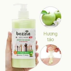 Sữa rửa tay sinh học Bazzle hương táo chai 500g