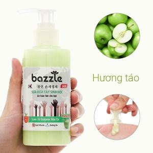Sữa rửa tay sinh học Bazzle hương táo chai 200g