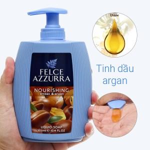 Sữa rửa tay hương nước hoa Felce Azzurra Amber & Argan chai 300ml