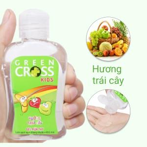 Gel rửa tay khô Green Cross Kids hương trái cây chai 100ml