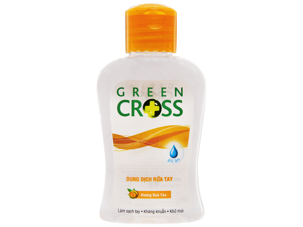 Gel rửa tay khô Green Cross hương táo chai 100ml 2