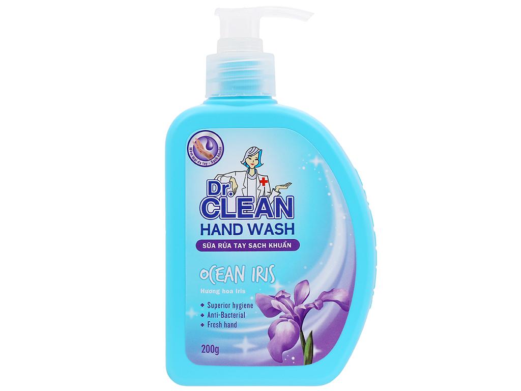 Nước rửa tay sạch khuẩn Dr. Clean hương đào chai 500ml 9